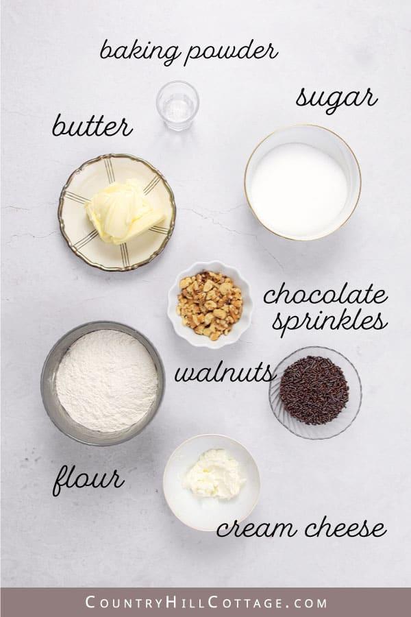 chocolate sprinkle cookie ingredients