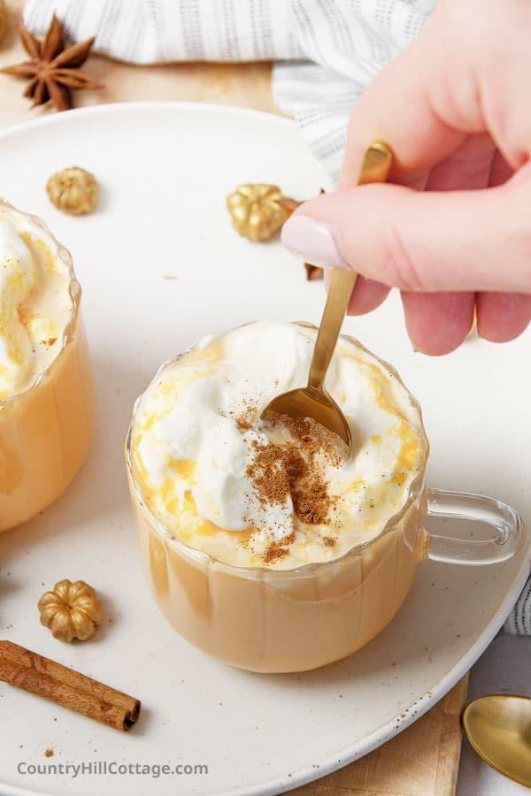coffee free pumpkin spice latte
