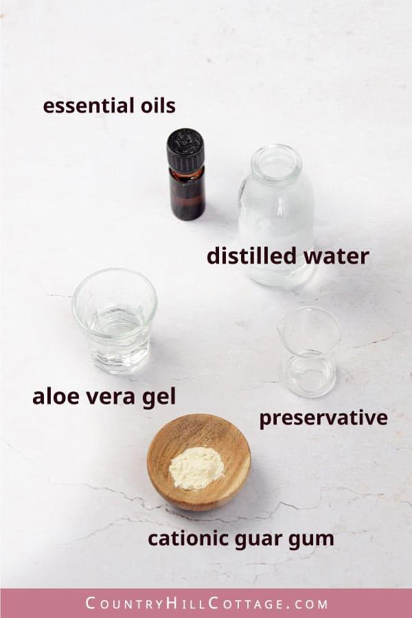 conditioner spray ingredients