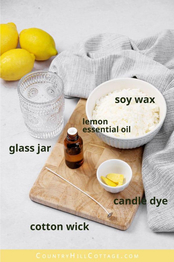 diy lemon candle materials