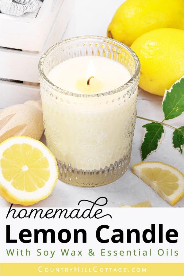 diy lemon candle