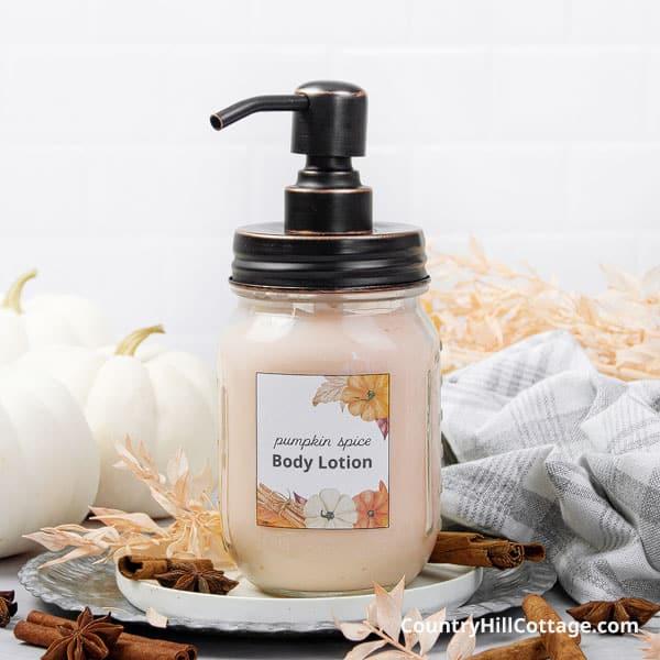 Pumpkin Lotion {Pumpkin Spice Body Lotion Recipe}