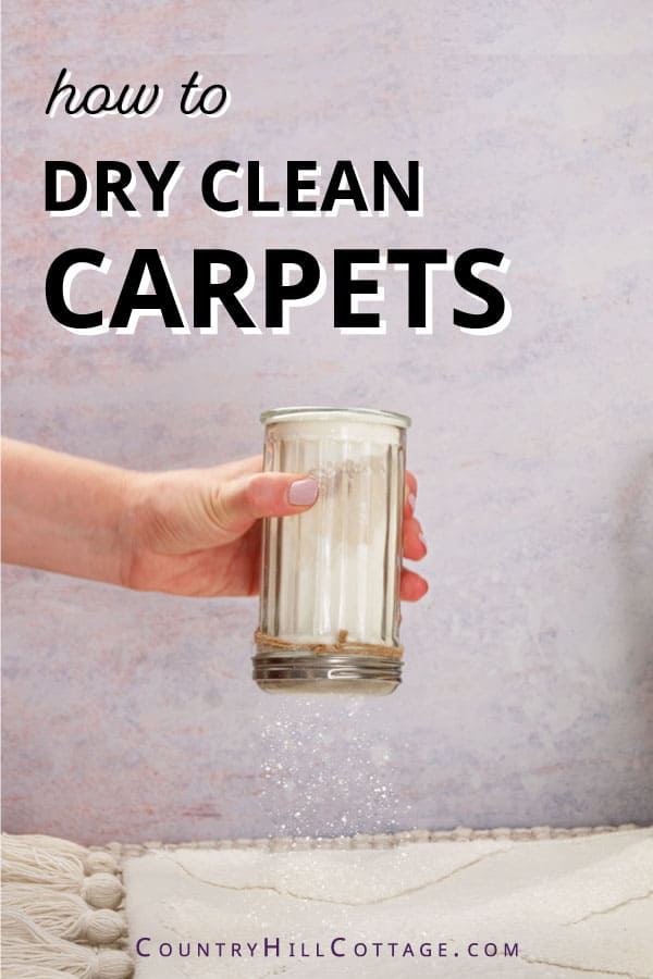 how to dry clean carpets