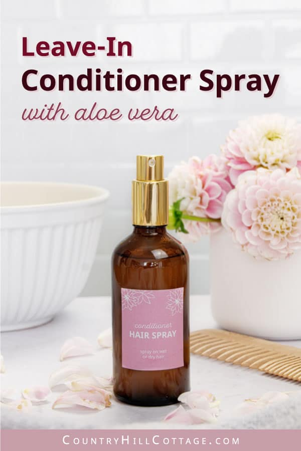 how to make leave in conditioner spray