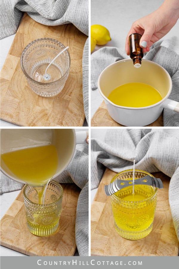 how to make lemon candle