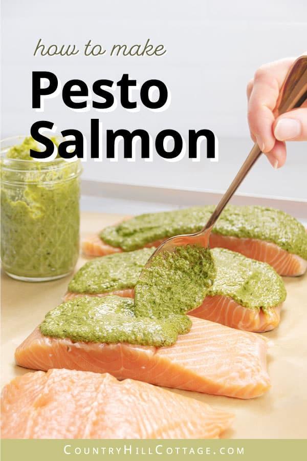 how to make pesto crusted salmon