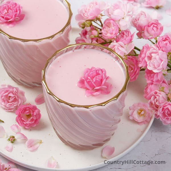 Rose Milk {Refreshing Drink with Rose Essence}
