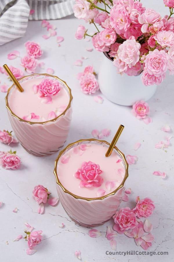 Indian rose drink