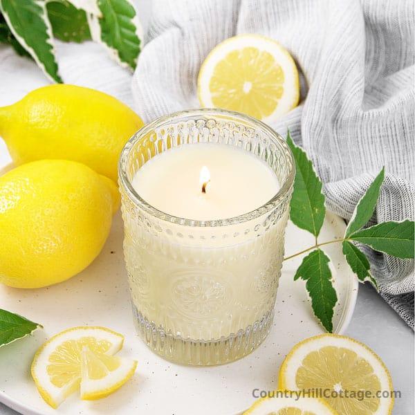 Lemon Candle DIY {Lemon Scented Candles Recipe}
