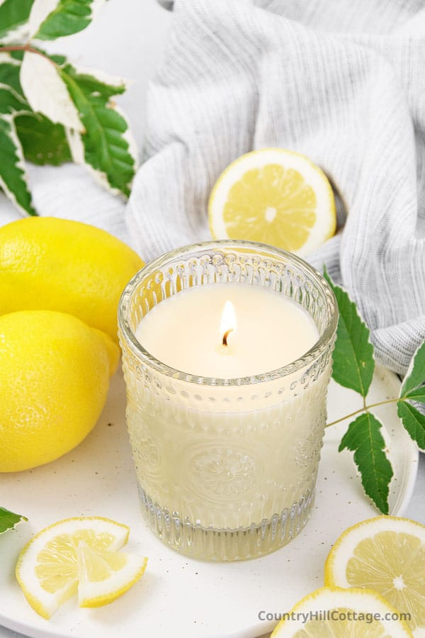 lemon scented candles