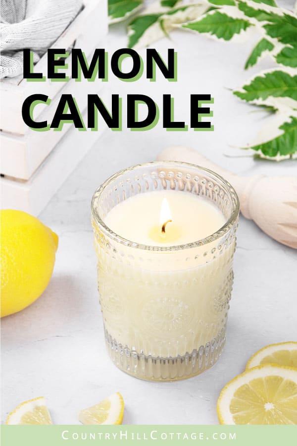 lemon soy candle