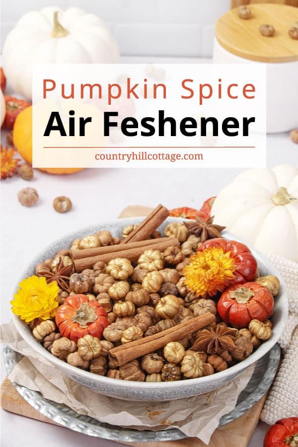 pumpkin spice air freshener