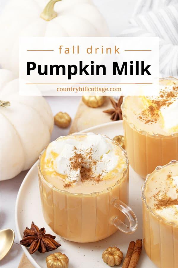 pumpkin spice milk