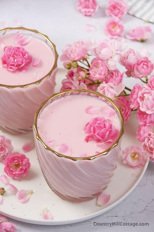 rose milk drink