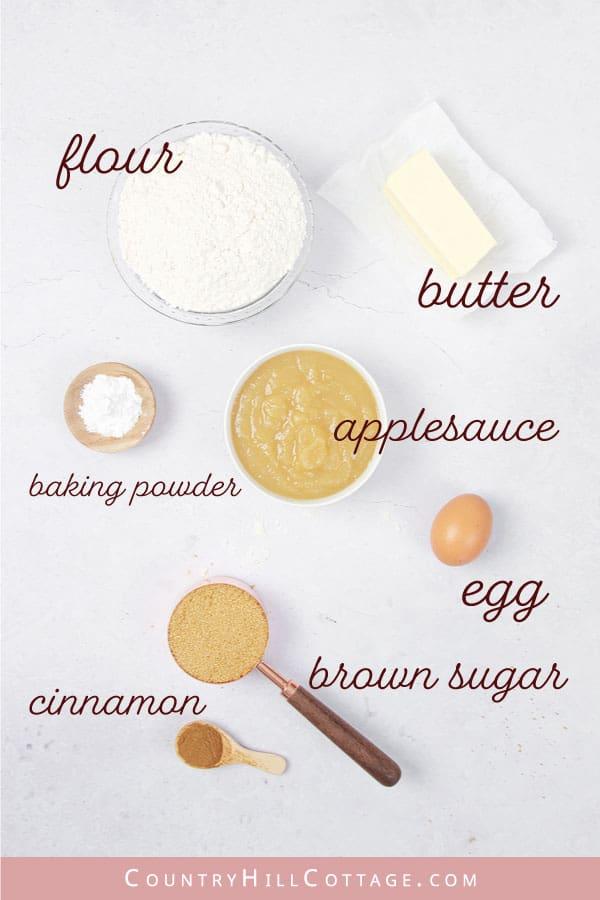 applesauce donut ingredients