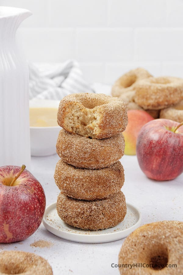 baked applesauce donuts