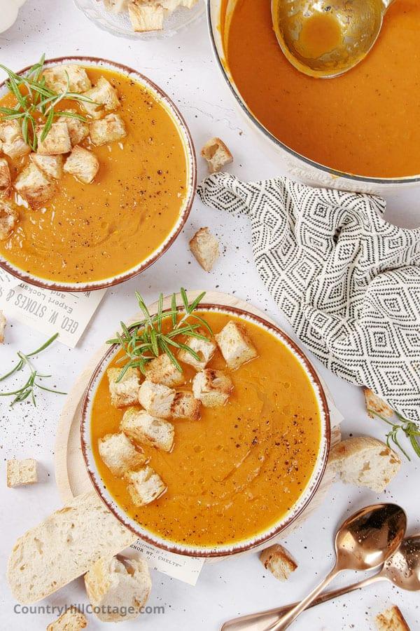 creamy pumpkin soup dairy free