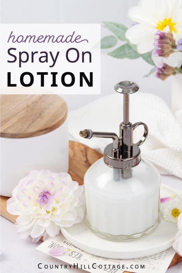 diy spray lotion