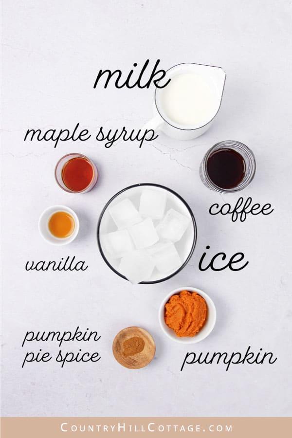 iced pumpkin spice latte ingredients