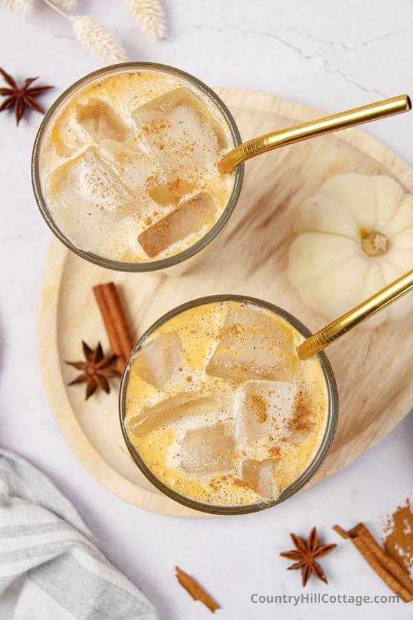 iced pumpkin spice latte Starbucks recipe