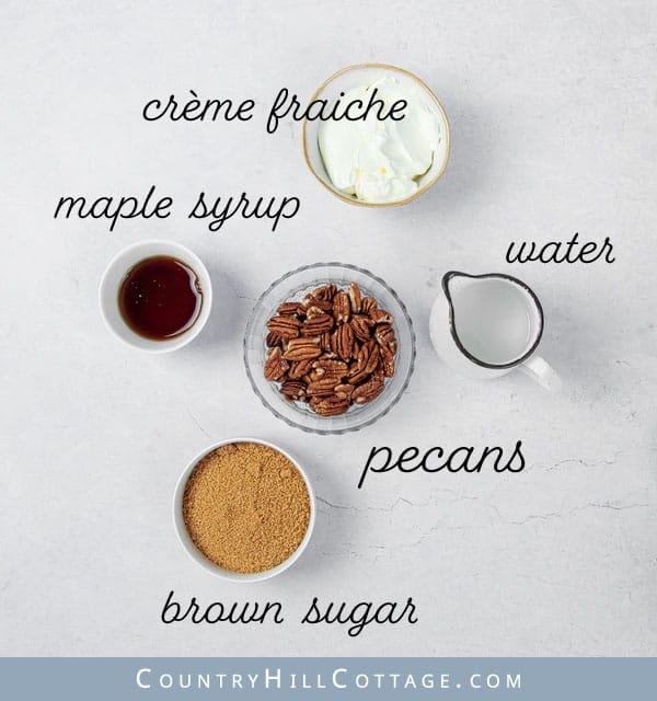 ingredients for pecan tartlet filling