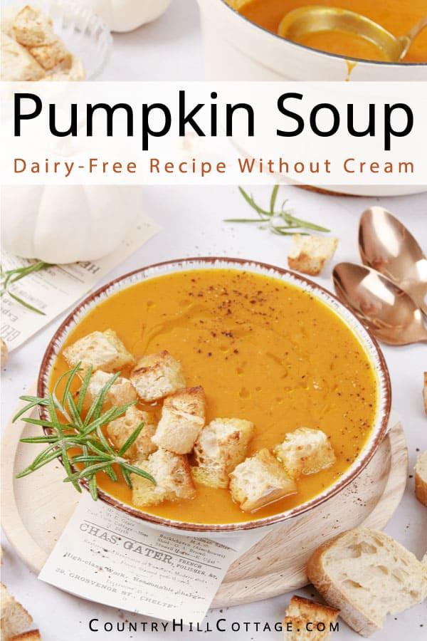no cream pumpkin soup