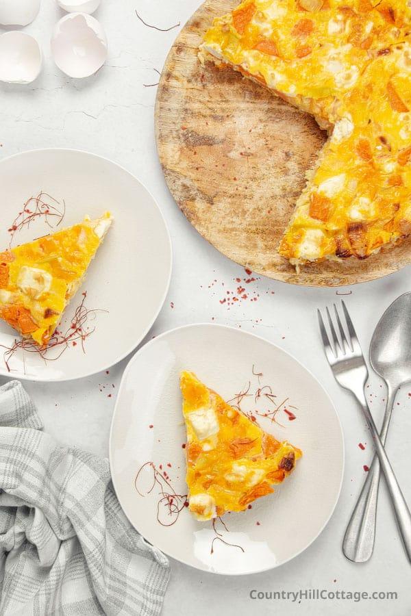 no pastry pumpkin quiche