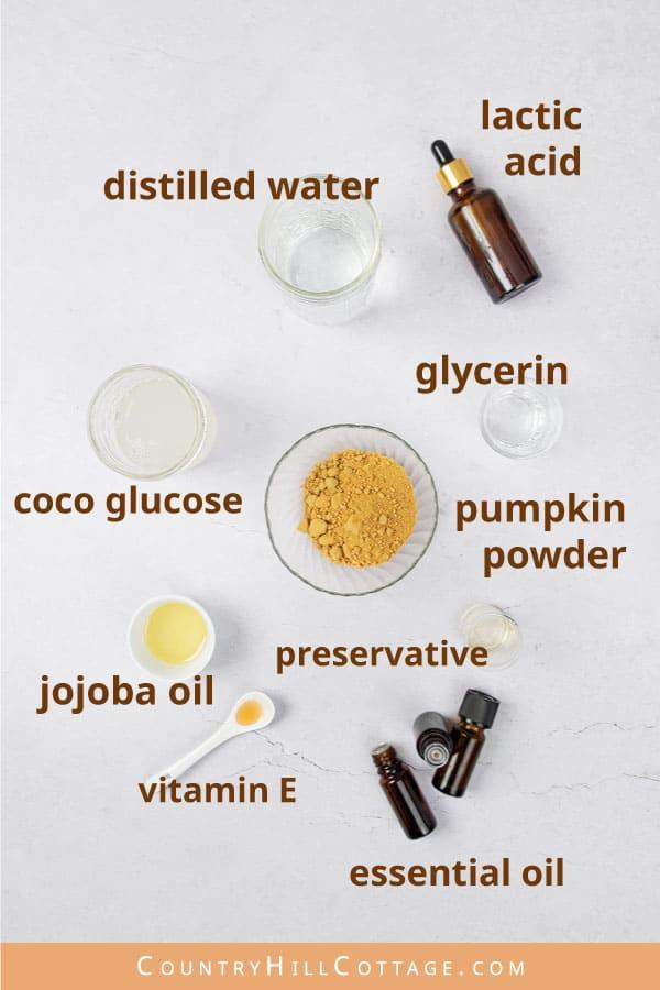 pumpkin spice body wash ingredients