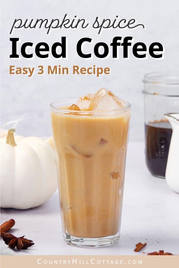 pumpkin iced coffee recipe