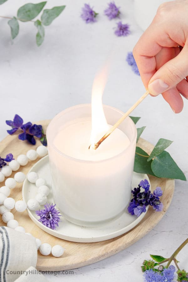 relaxing candle